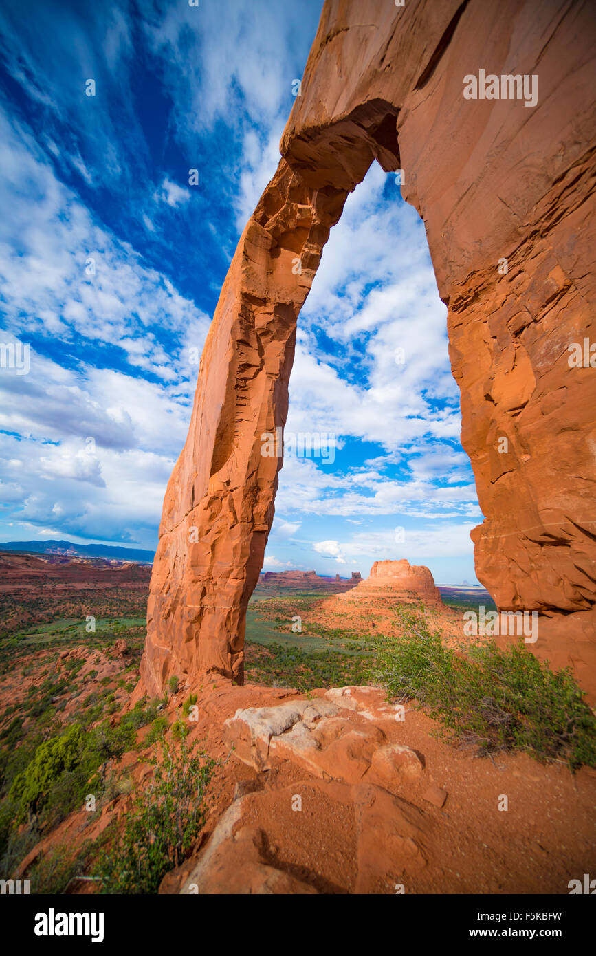 Royal, or Gregg Arch, Navajo Wildlands, Arizona Luckachukai Mountains - Stock Image