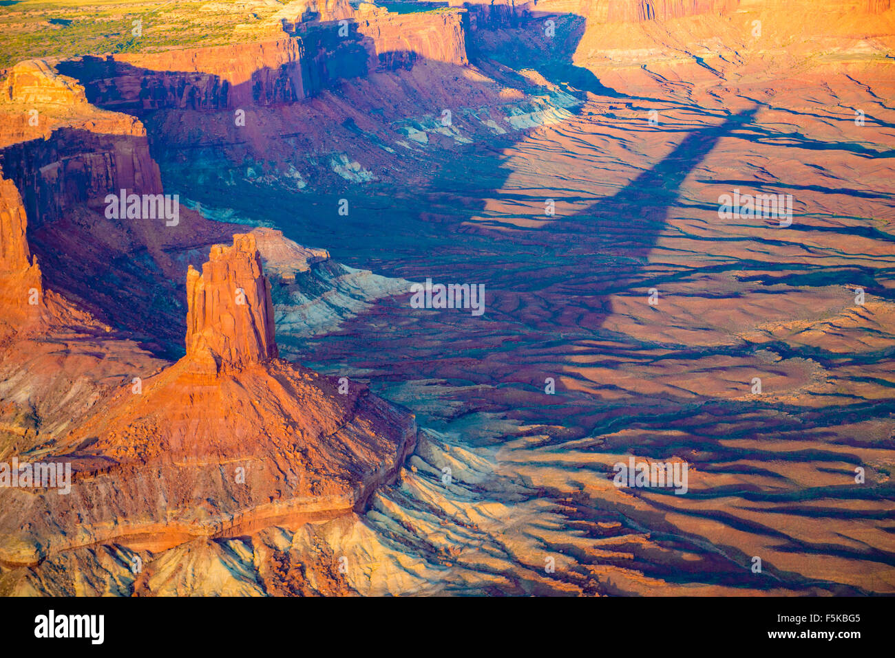 Candlestick Butte, Canyonlands National Park, Utah, Near Green River, Island in the Sky District - Stock Image