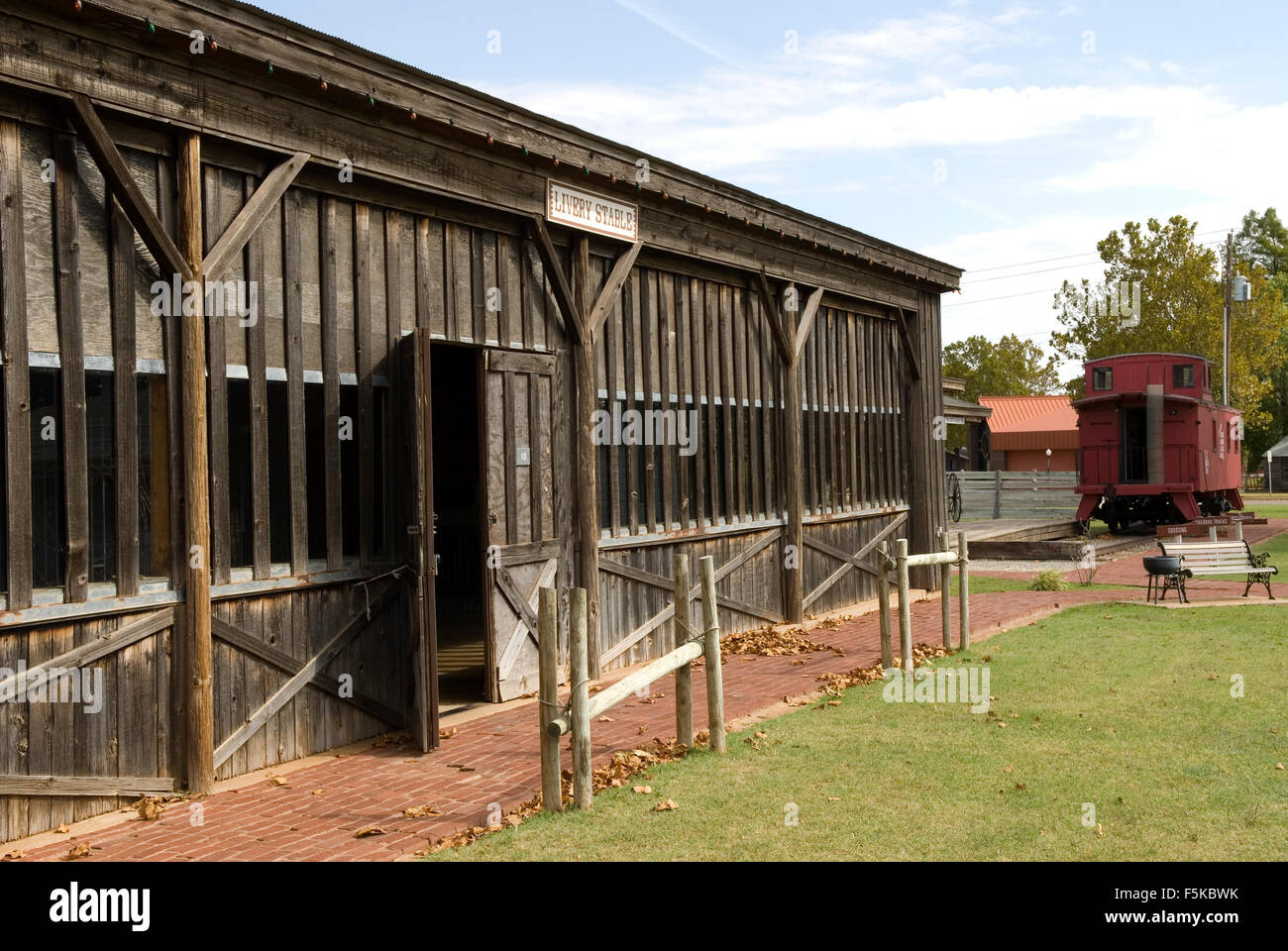 Livery Stable Old Town Museum Complex Elk City Oklahoma USA - Stock Image