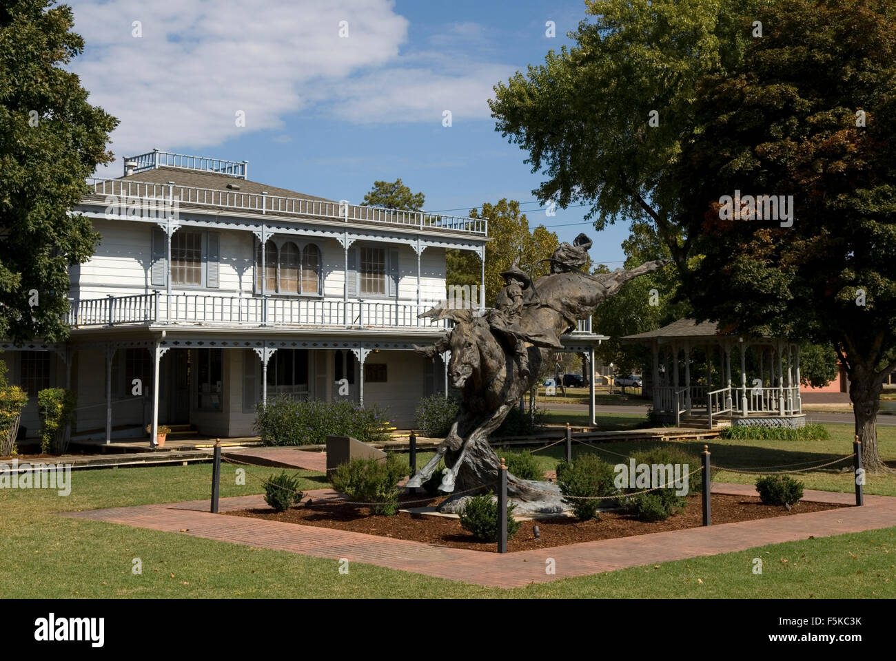 Commotion Statue Old Town Museum Elk City Oklahoma USA - Stock Image