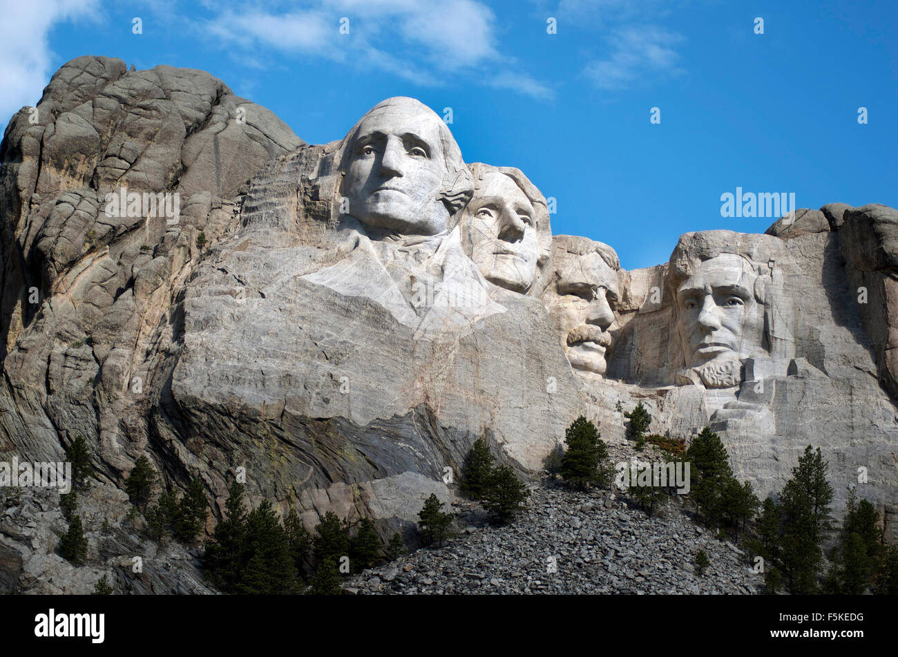 Mt Rushmore National Memorial, U.S. National Park Service - Stock Image