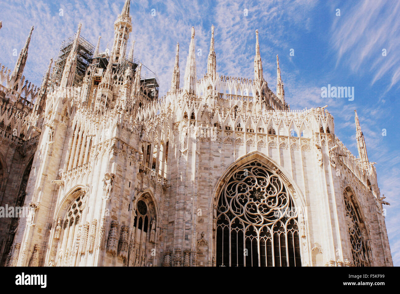 Cathedral Duomo di Milano in Milan, Italy - Stock Image