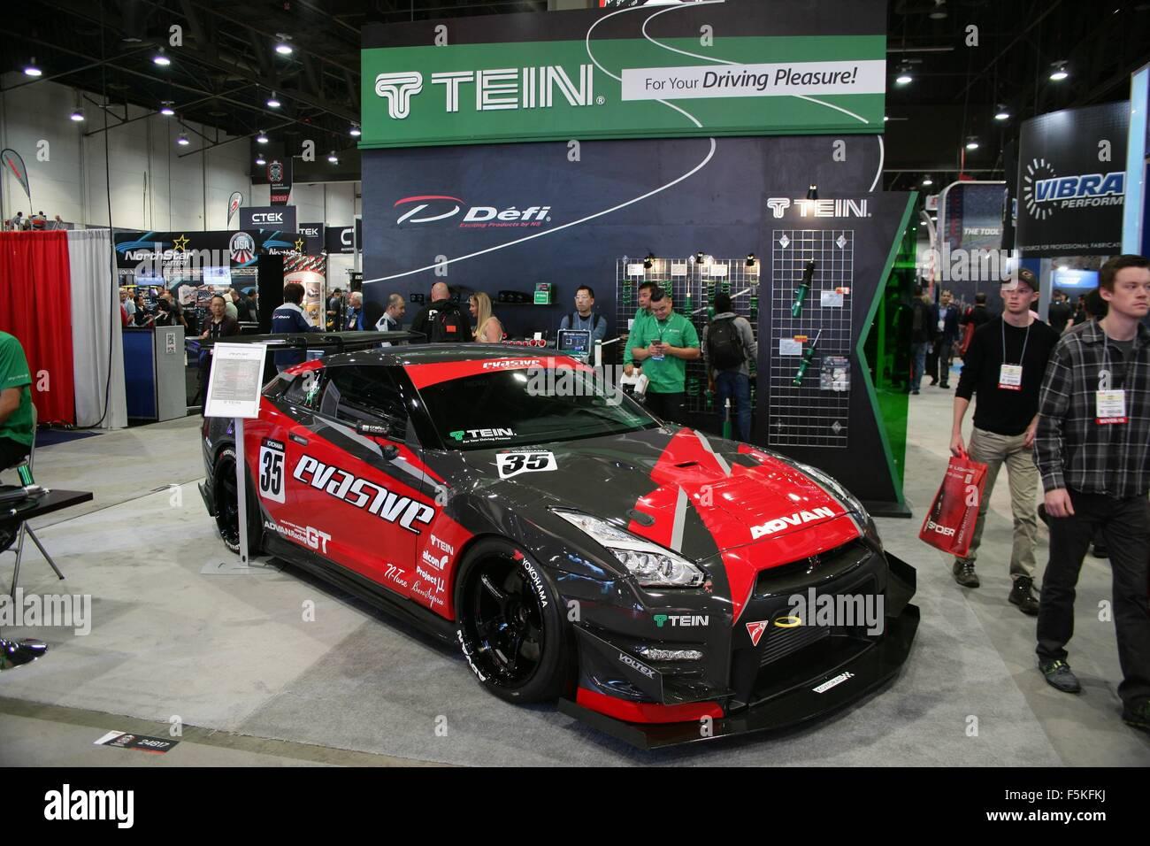 Las Vegas, NV, USA. 5th Nov, 2015. Custom 2010 Nissan GT-R by Evasive Motorsports in attendance for The 2015 SEMA - Stock Image