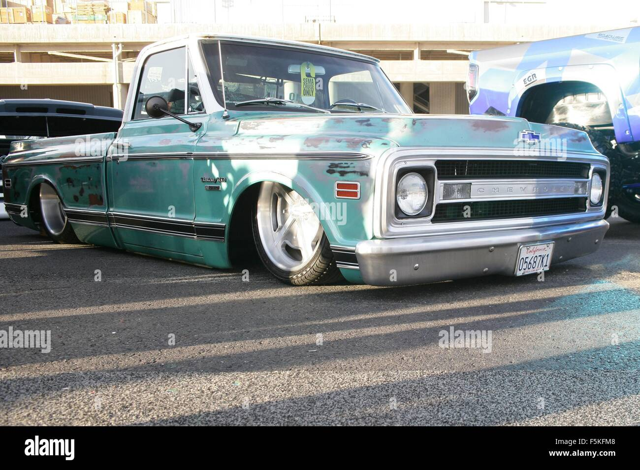 Chevy Las Vegas >> Las Vegas Nv Usa 5th Nov 2015 Custom 1970 Chevy C10 Truck By