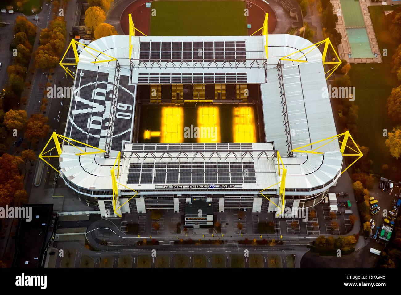 Signal Iduna Park, Signal-Iduna-Park, Borussia Dortmund, BVB O9, Stadium with Turf heating, national league football - Stock Image