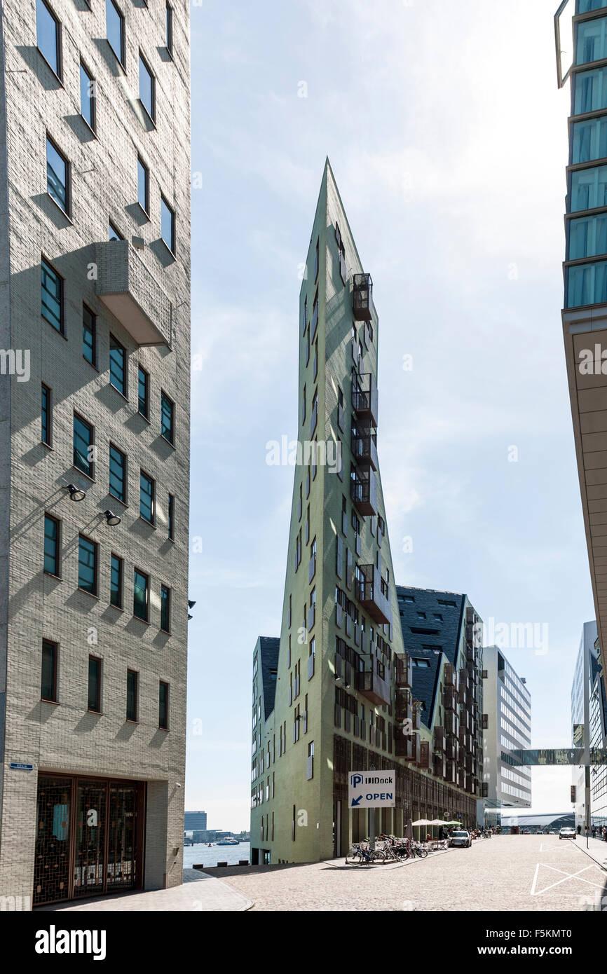 Modern architecture, Westerdok, Amsterdam, The Netherlands - Stock Image