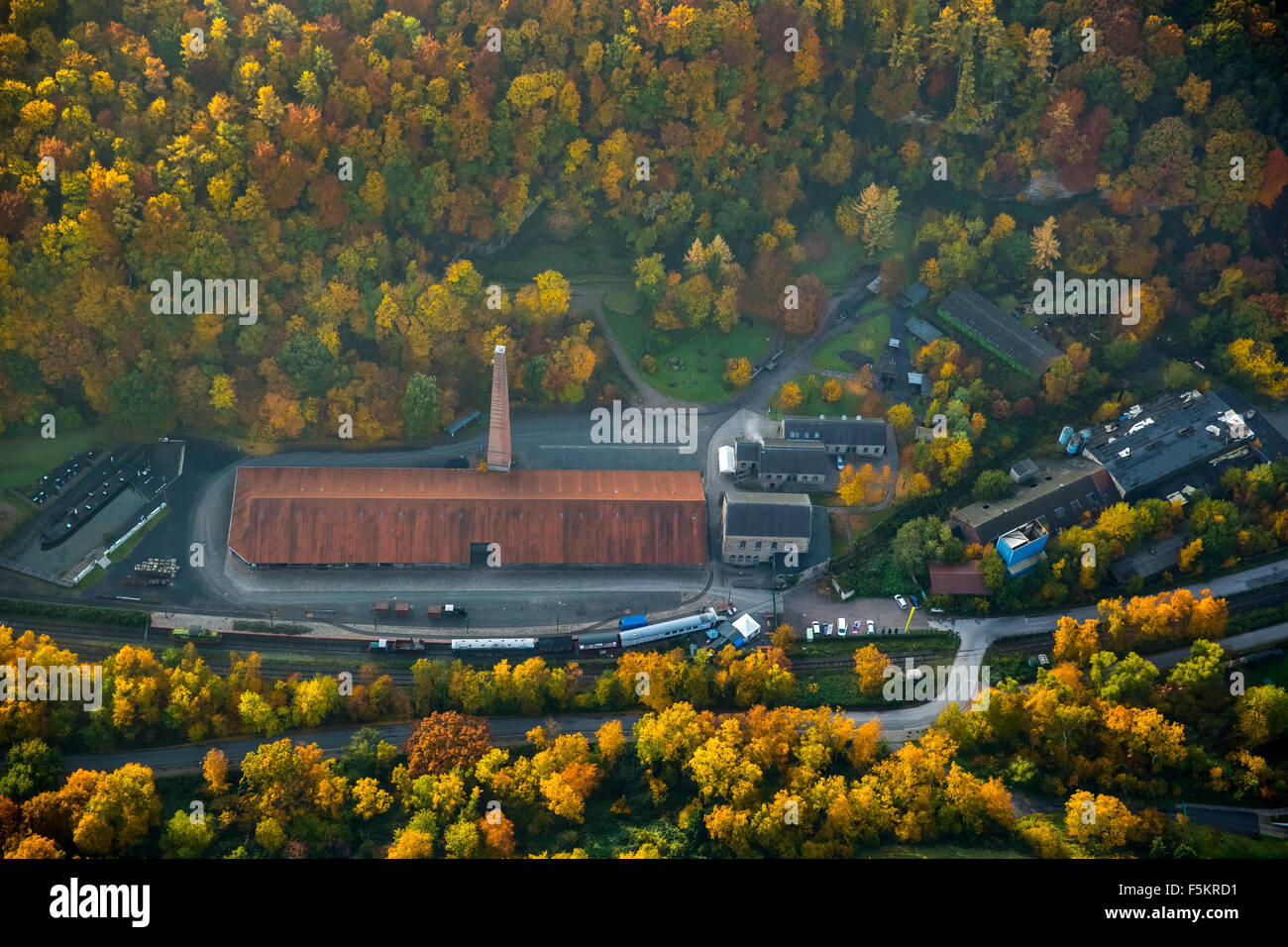 Muttental, cradle of the Ruhr mining, Witten - Stock Image