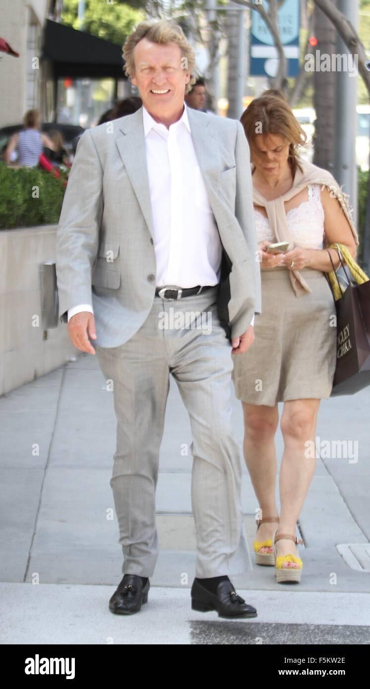 Nigel Lythgoe goes shopping in Beverly Hills  Featuring: Nigel Lythgoe Where: Hollywood, California, United States - Stock Image