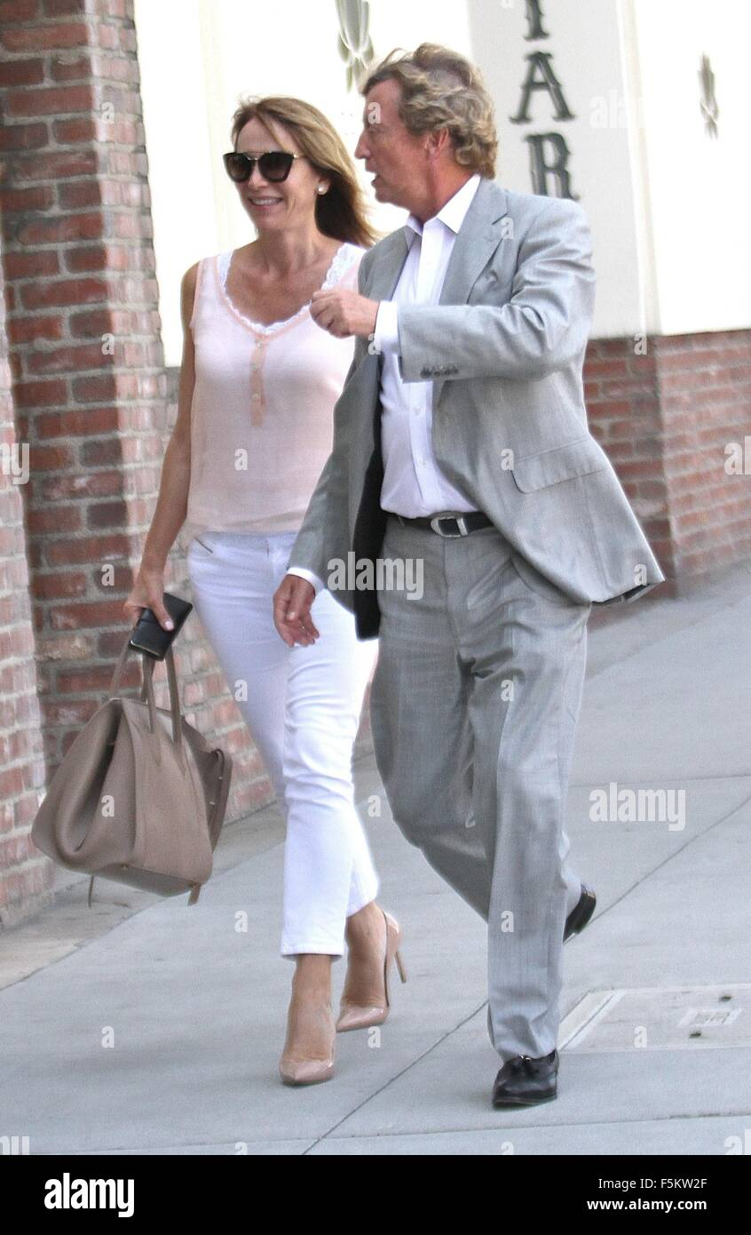 Nigel Lythgoe goes shopping with his wife in Beverly Hills  Featuring: Nigel Lythgoe Where: Hollywood, California, - Stock Image