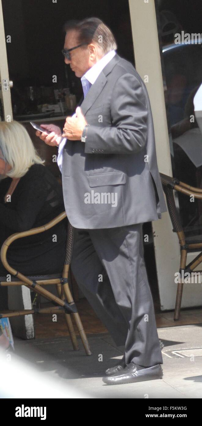 Donald Sterling has lunch with friends in Beverly Hills, CA.  Featuring: Donald Sterling Where: Hollywood, California, - Stock Image