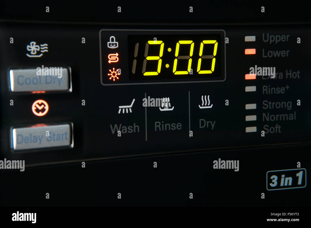 Washing Machine Timer Stock Photos Electronic Circuit For Close Up Of A Modern Control Pannel With And Options Low Key