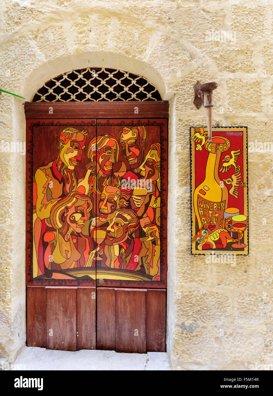 Il-Forn Art Gallery & Wine Bar - Stock Image