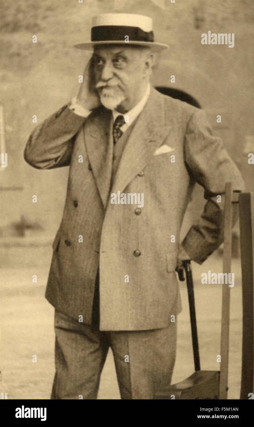 The writer and Italian playwright Luigi Pirandello - Stock Image