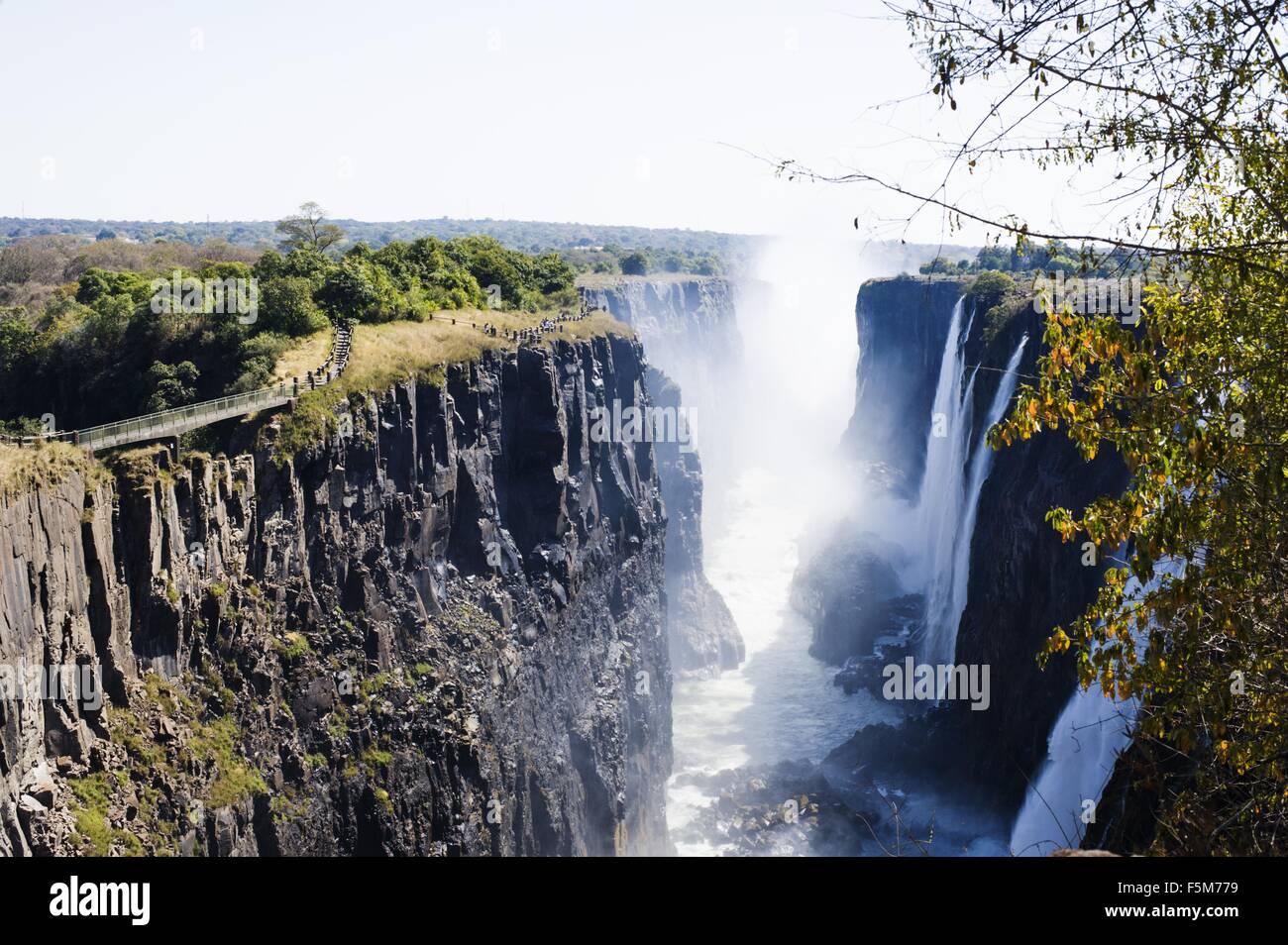 View of Victoria Falls, Zambia - Stock Image