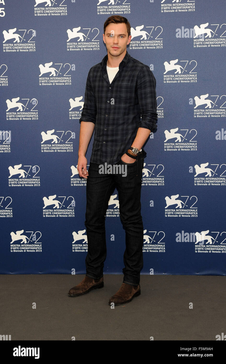 72nd Venice Film Festival - 'Equals' photocall  Featuring: Nicholas Hoult When: 05 Sep 2015 Stock Photo