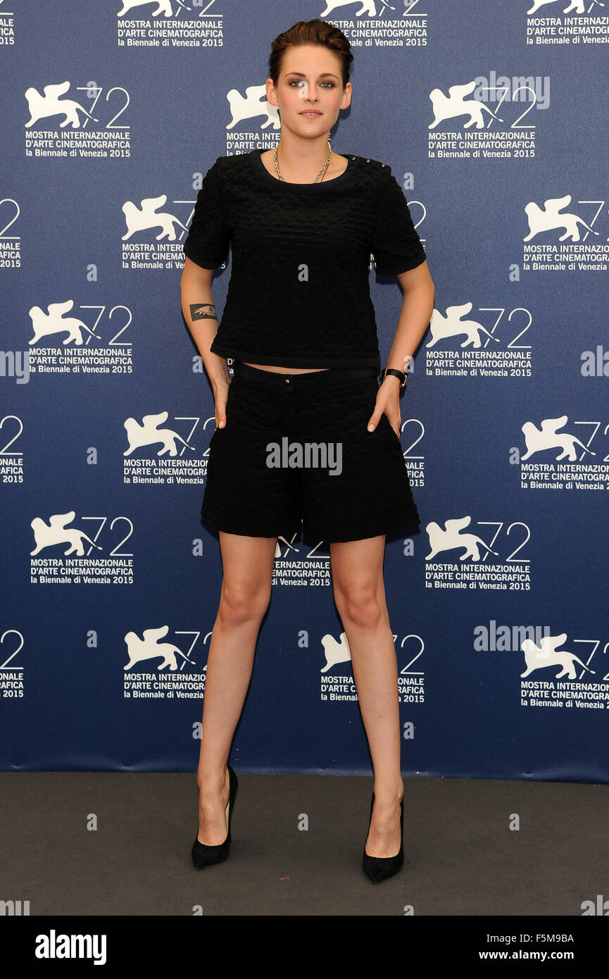 72nd Venice Film Festival - 'Equals' photocall  Featuring: Kristen Stewart When: 05 Sep 2015 Stock Photo