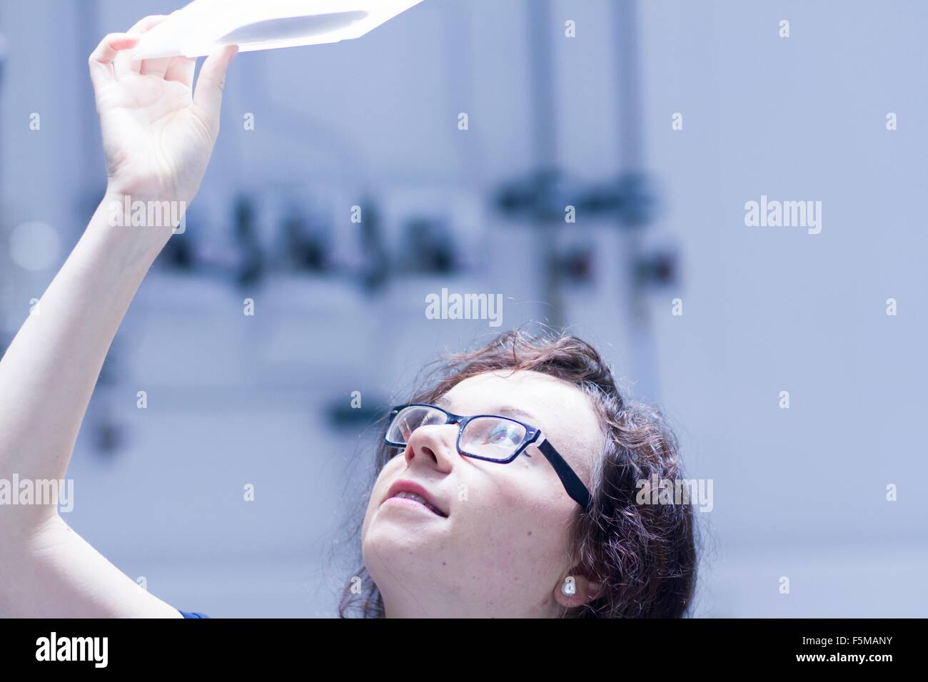 Technician working in laboratory - Stock Image