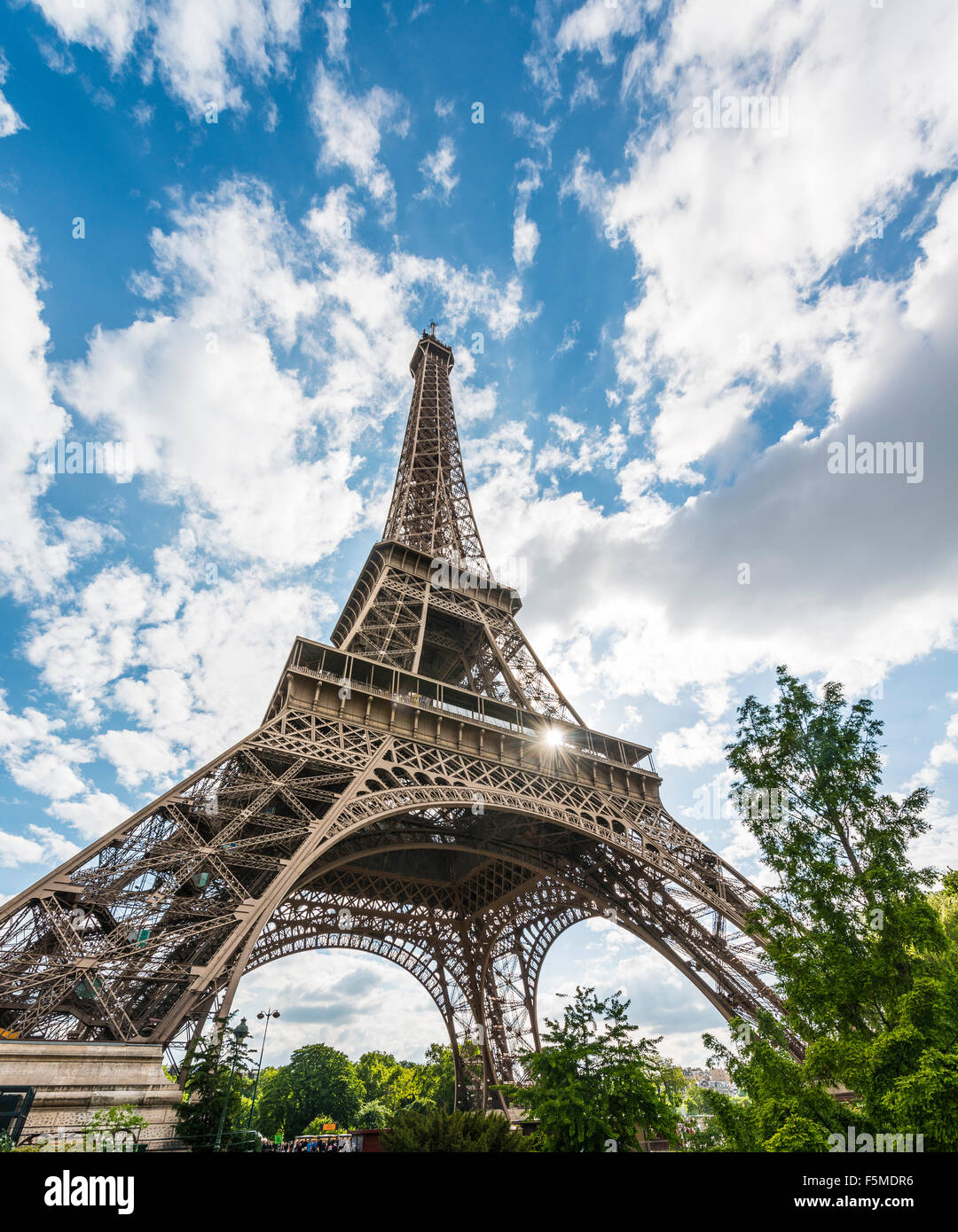 Eiffel Tower, tour Eiffel, Paris, Ile-de-France, France - Stock Image
