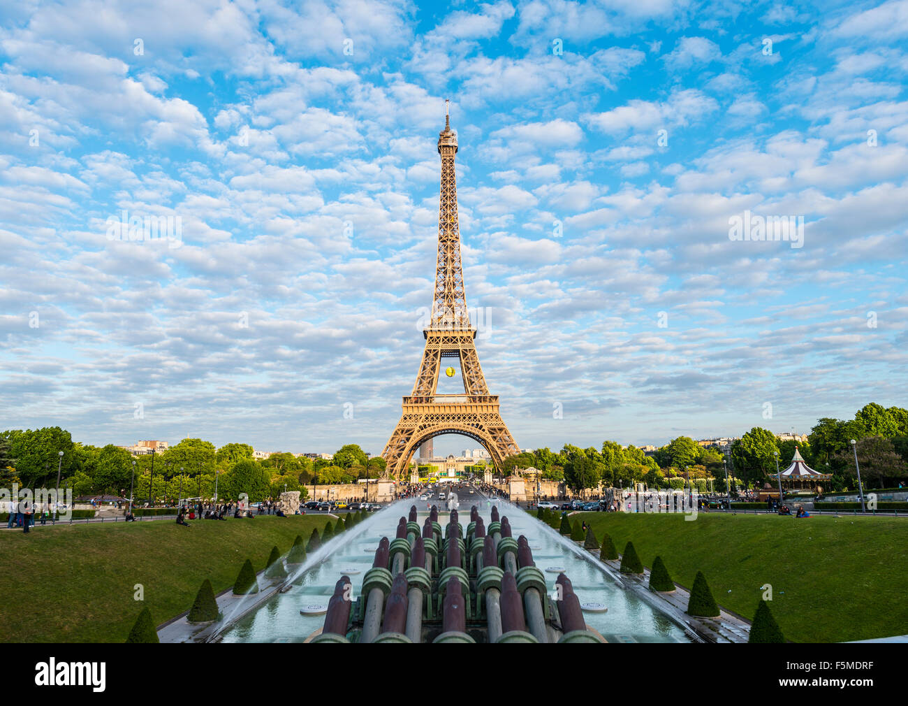 Eiffel Tower, tour Eiffel and Trocadero, Paris, Ile-de-France, France Stock Photo