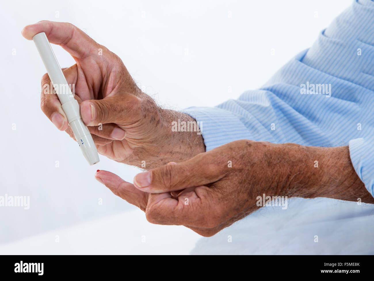 blood suggar test - Stock Image