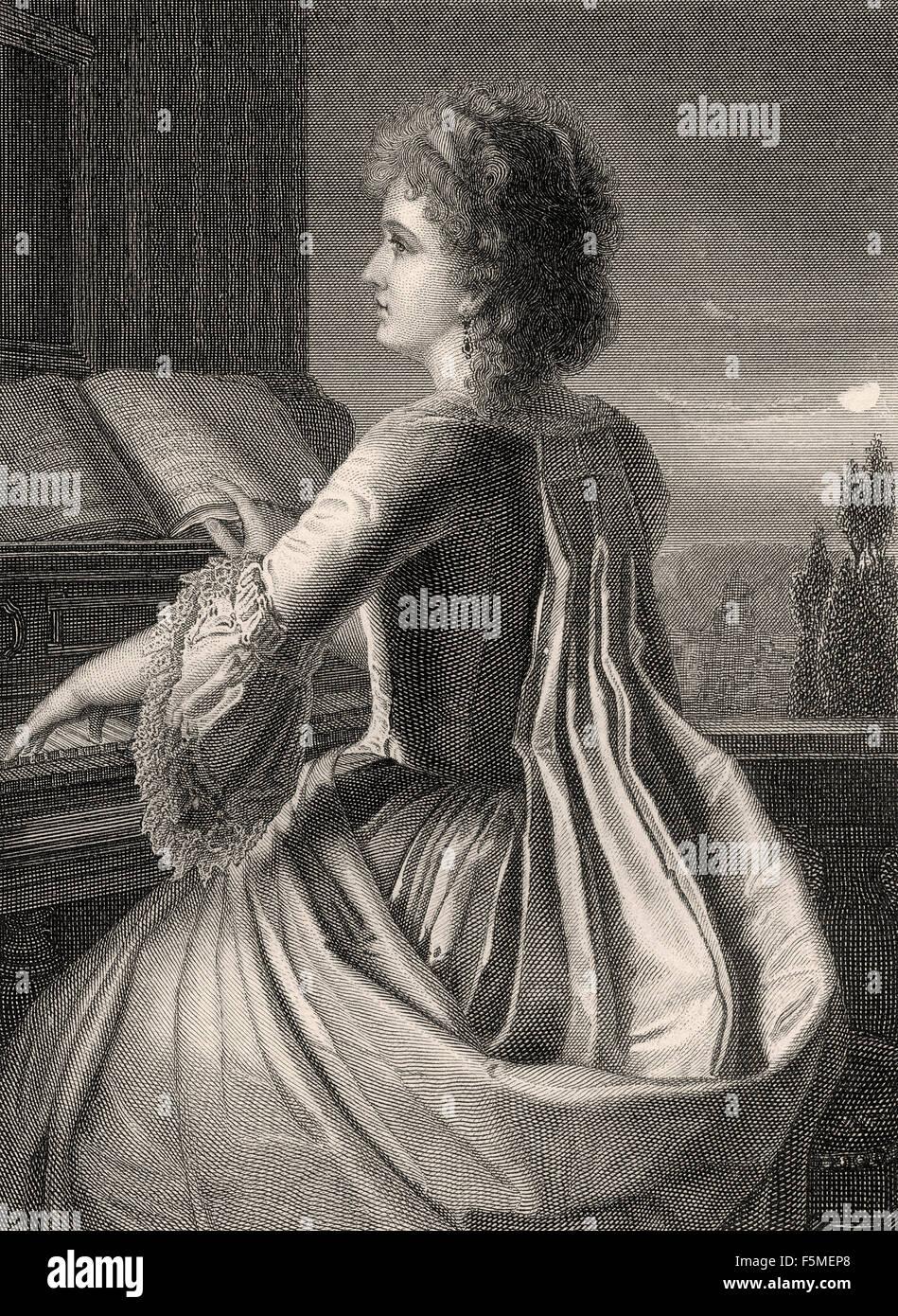 Anna Elizabeth Schoenemann, 1758-1817, financée 'Lili' of Johann Wolfgang von Goethe, 1749-1832, - Stock Image