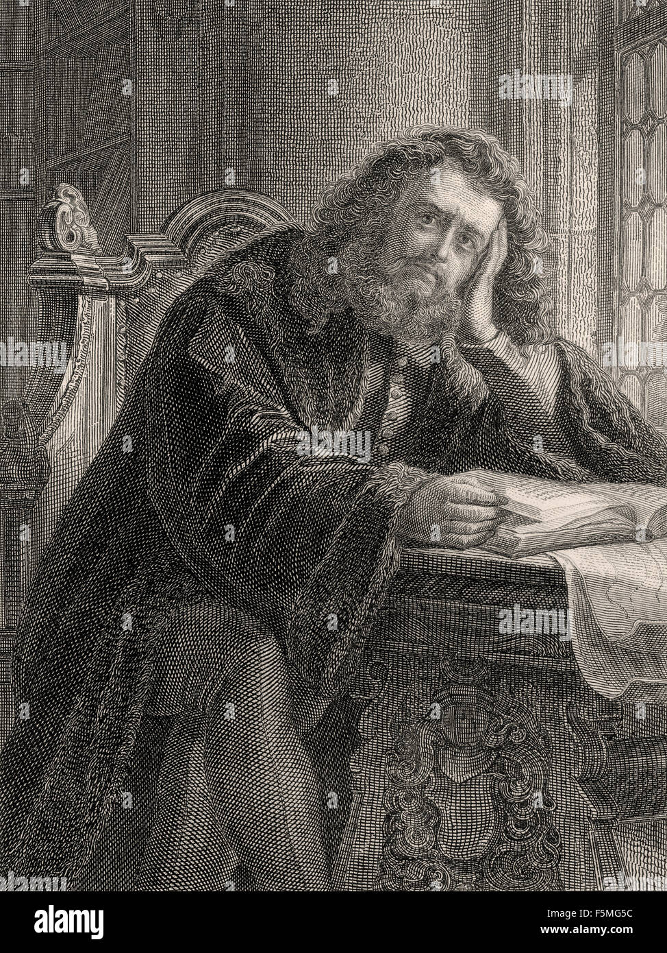 Dr. Heinrich Faust, in the tragedy Faust written by Johann Wolfgang von Goethe Stock Photo