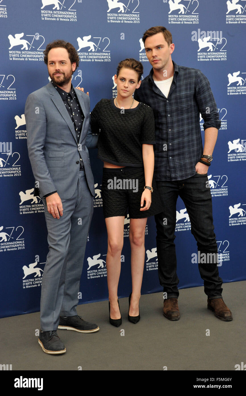 72nd Venice Film Festival - 'Equals' photocall  Featuring: Drake Doremus, Kristen Stewart, Nicholas Hoult Where: Stock Photo