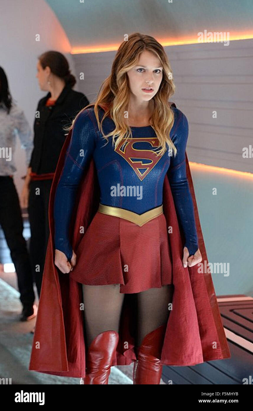 supergirl 2015 cbs broadcasting tv series with melissa benoist stock photo 89578255 alamy. Black Bedroom Furniture Sets. Home Design Ideas