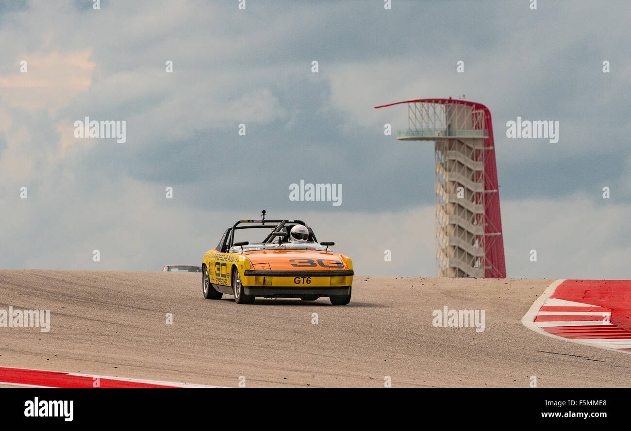 1971 PORSCHE 914/4, 1998cc -  driven by Dave Foreman of Austin, TX. -  2015 SVRA US Vintage National Championship - Stock Image