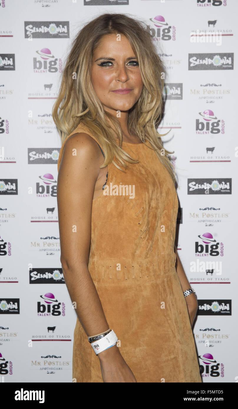Celebrities at Sundown Festival  Featuring: gemma oaten Where: Norwich, United Kingdom When: 05 Sep 2015 - Stock Image