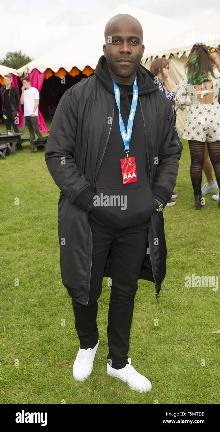 Celebrities at Sundown Festival  Featuring: Melvin Odoom Where: Norwich, United Kingdom When: 05 Sep 2015 - Stock Image