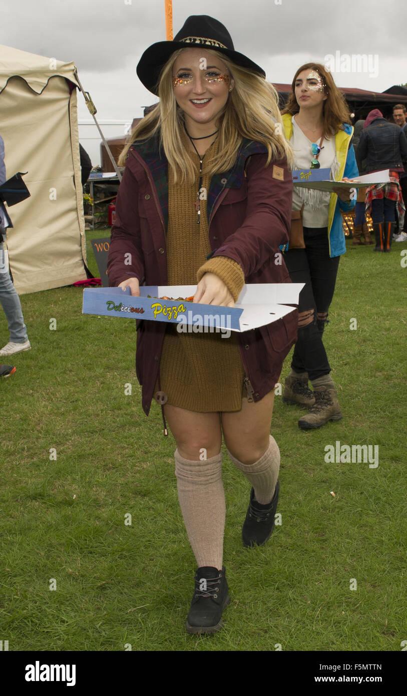 Celebrities at Sundown Festival  Featuring: Jazmine Franks Where: Norwich, United Kingdom When: 05 Sep 2015 - Stock Image