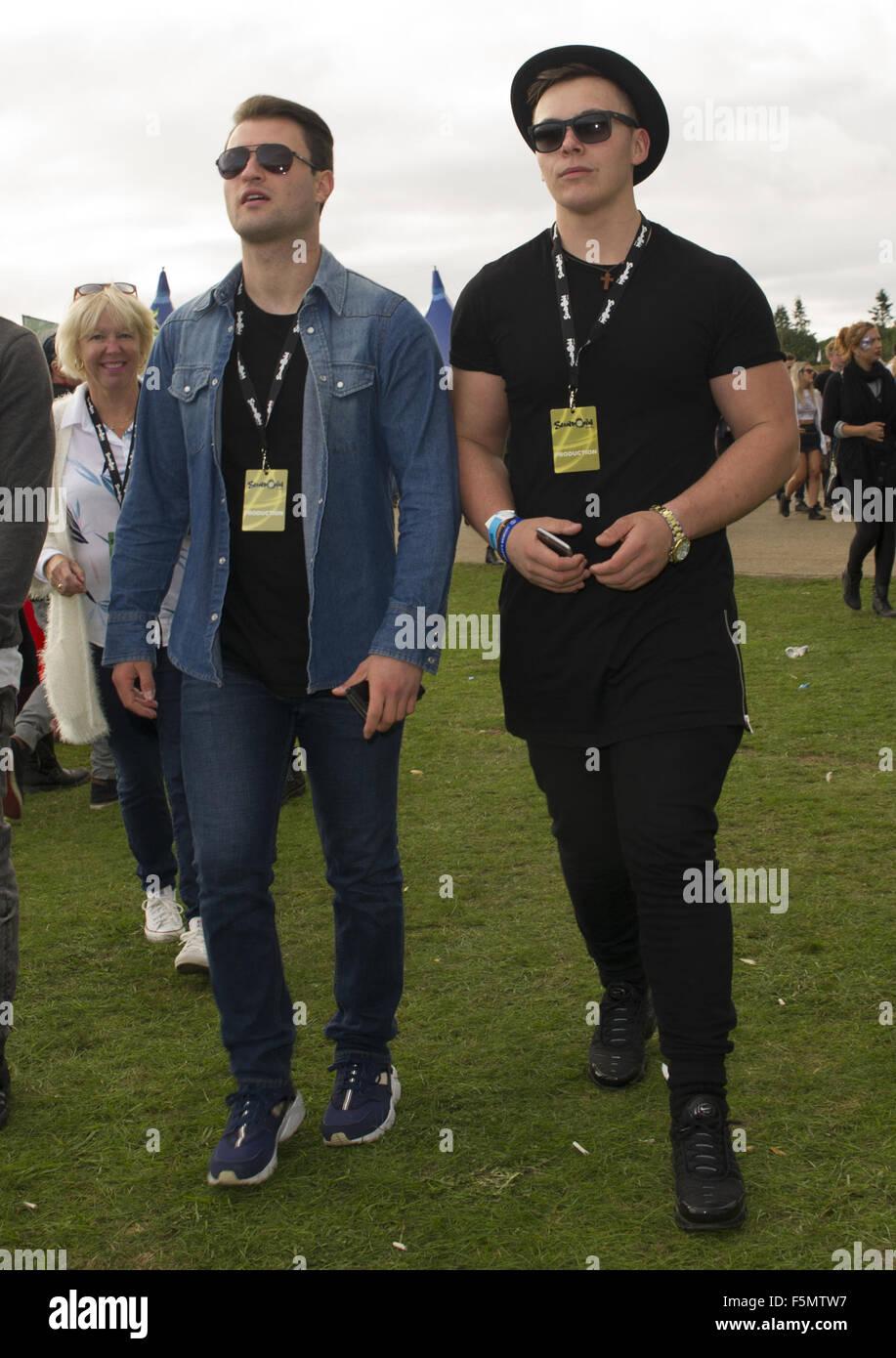 Celebrities at Sundown Festival  Featuring: jack jones Where: Norwich, United Kingdom When: 05 Sep 2015 - Stock Image
