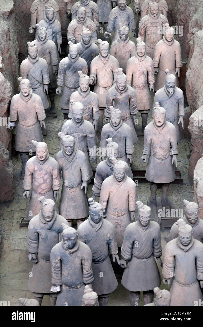 Terracotta Warriors in Xian, China - Stock Image