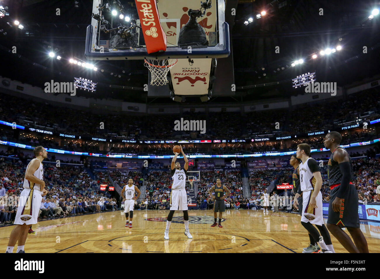New Orleans La Usa 6th Nov 2015 New Orleans Pelicans
