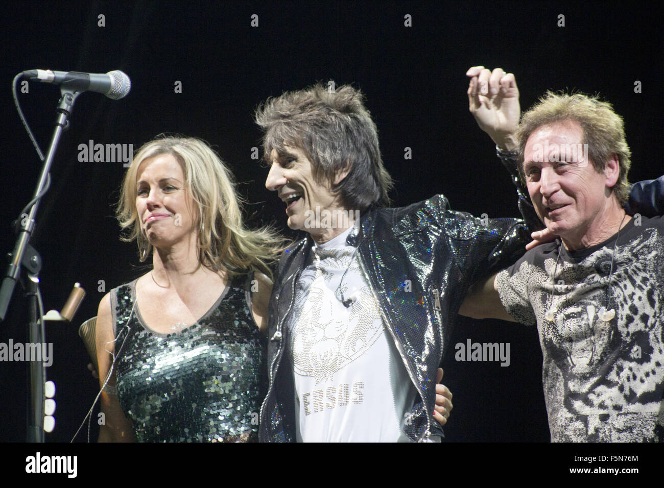 The Faces Reunion Concert at Hurtwood Park Polo Club  Featuring: Ronnie Wood, Kenney Jones Where: Surrey, United - Stock Image