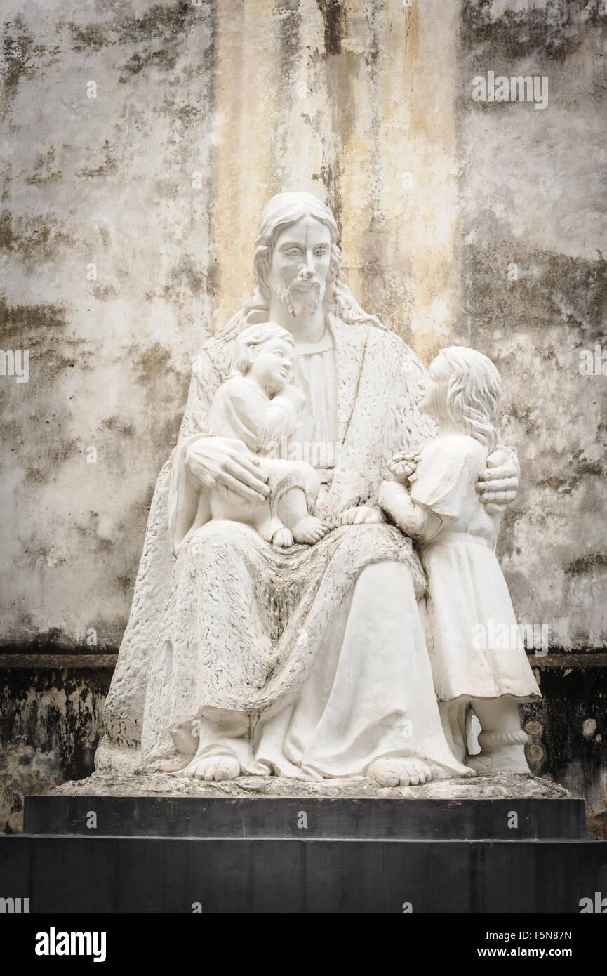 Statuary of Jesus Christ in the St. Joseph's Cathedral in Hoan Kiem Hanoi, Vietnam. - Stock Image