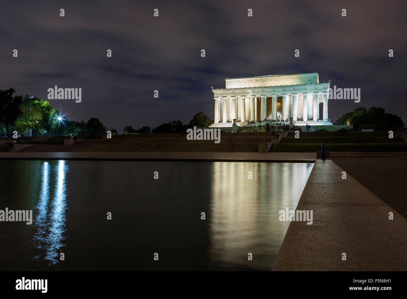 The Lincoln Memorial in Washington DC - Stock Image