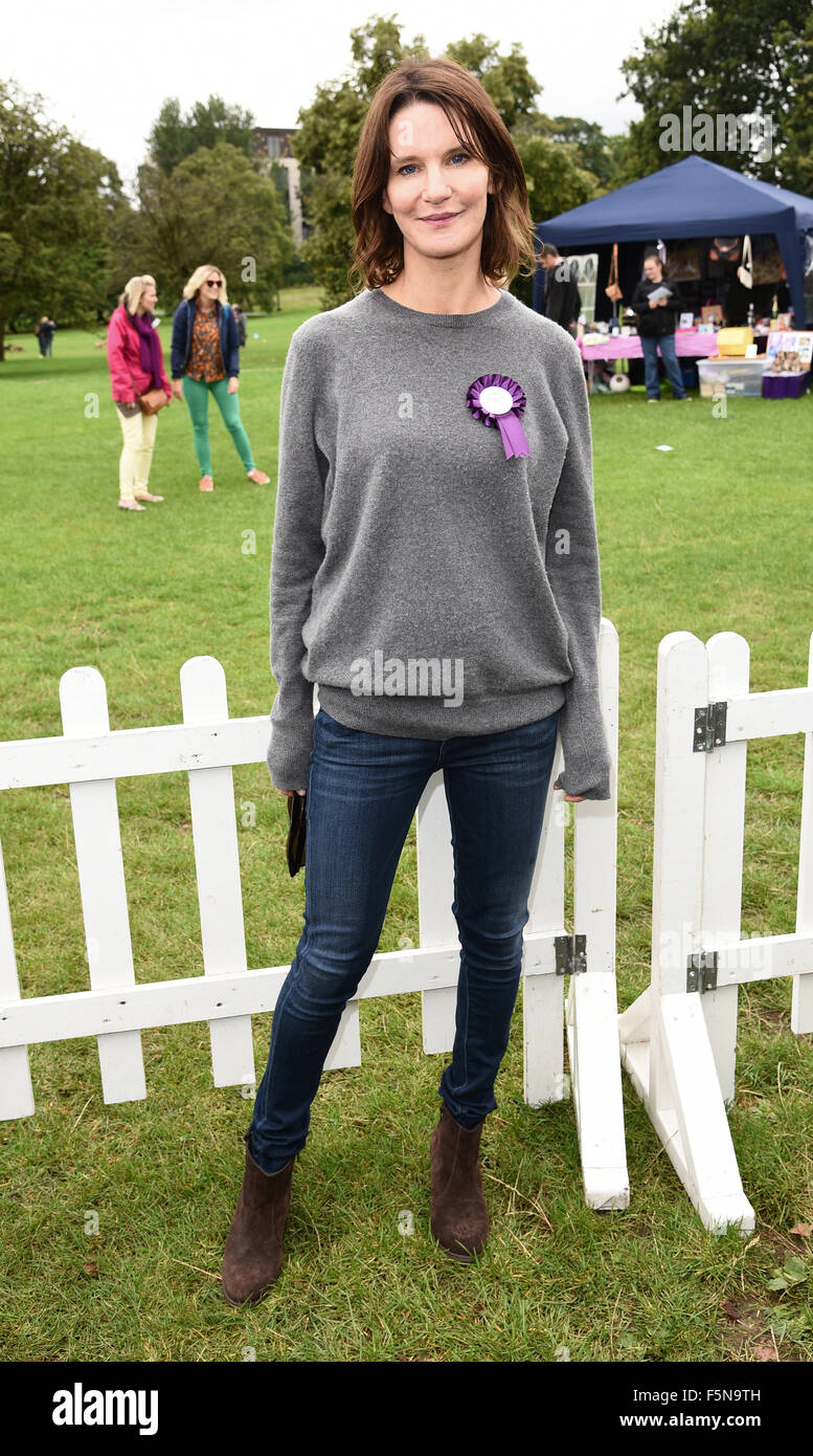 PupAid Puppy Farm Awareness Day at Primrose Hill, London  Featuring: Susie Dent Where: London, United Kingdom When: - Stock Image