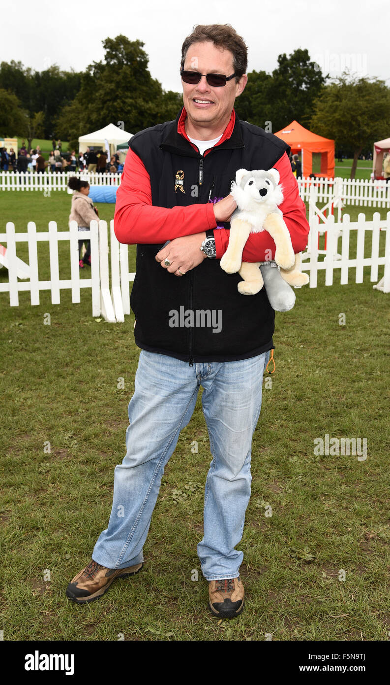 PupAid Puppy Farm Awareness Day at Primrose Hill, London  Featuring: Will Travers Where: London, United Kingdom - Stock Image