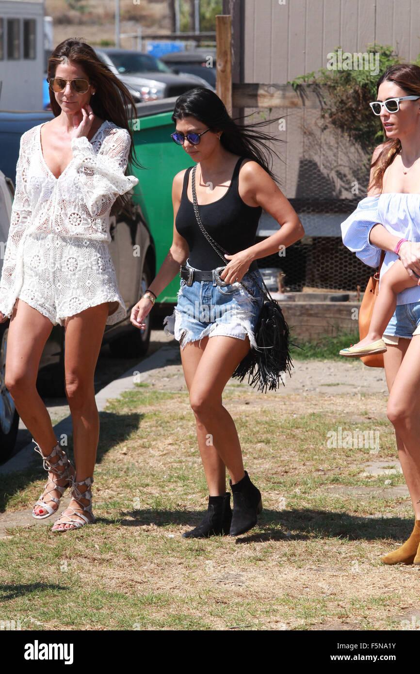 Celebrities at Malibu Kiwanis Chili Cook-off in Malibu  Featuring: Kourtney Kardashian Where: Malibu, California, - Stock Image