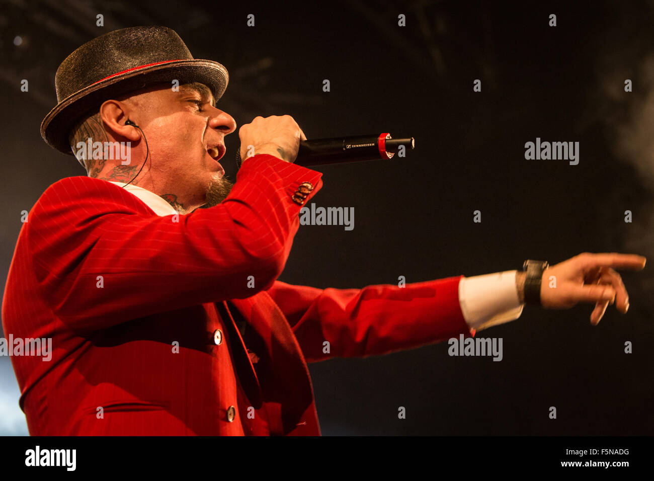 Fontaneto d'Agogna Italy. The Italian rapper and pop singer Alessandro Aleotti better known on stage as J-AX performs Stock Photo