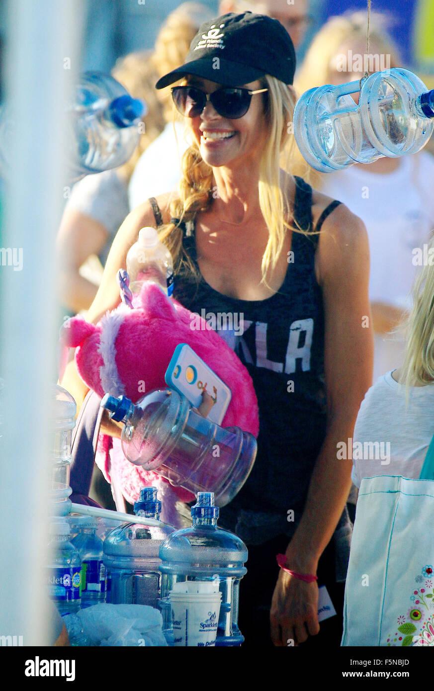 Celebrities attend Malibu Kiwanis Chili Cook-off  Featuring: Denise Richards Where: Malibu, California, United States - Stock Image