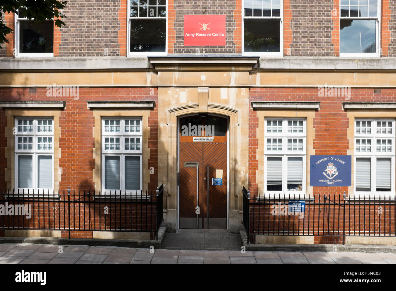 Yeomanry House Army Reserve Centre University of London Officers Training Corp Handel Street London - Stock Image