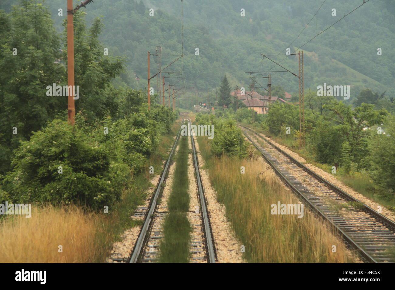 train lines Croatia - Stock Image