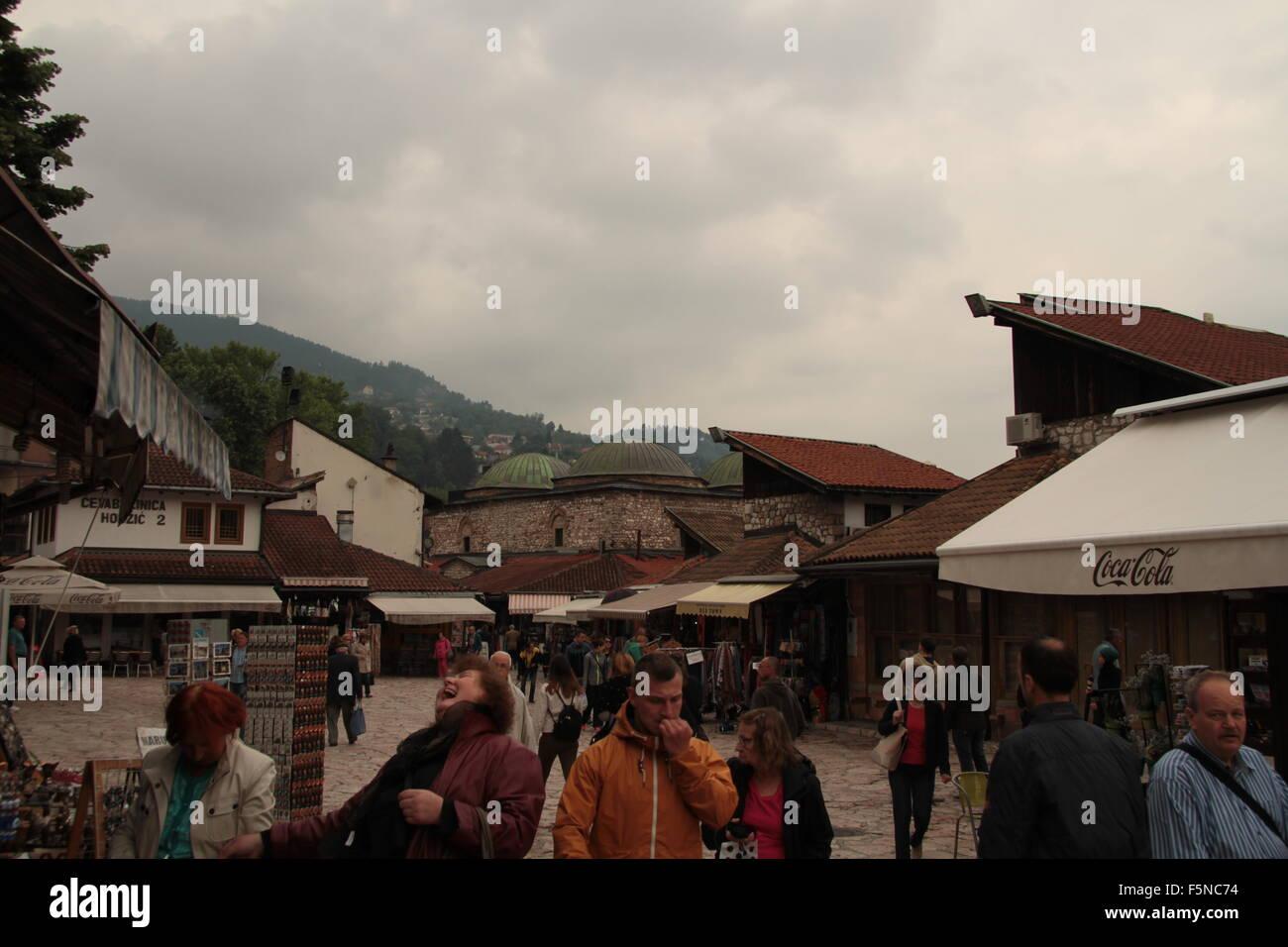 market Sarajevo Bosnia-Herzegovina - Stock Image