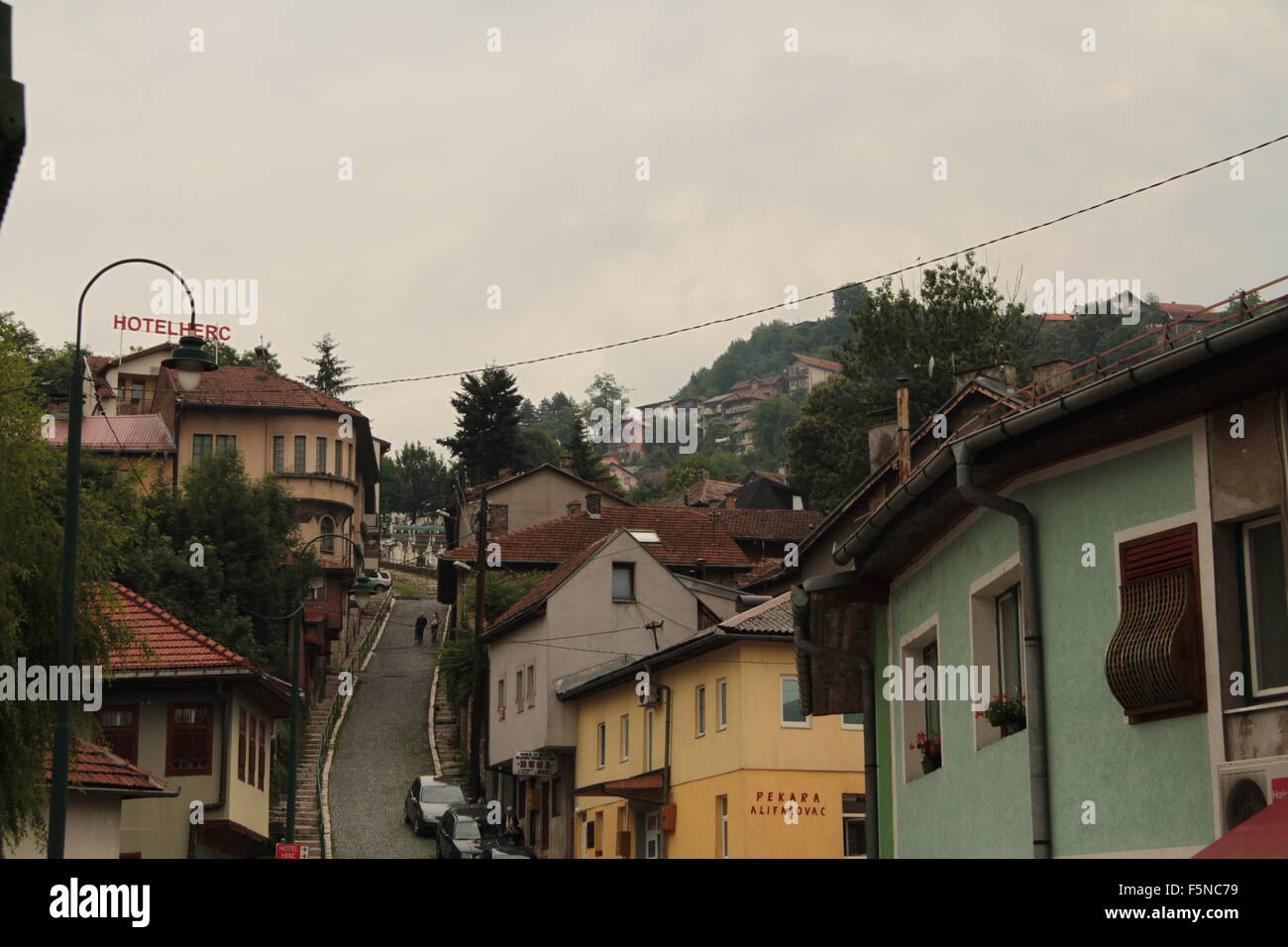 streetscape Sarajevo Bosnia-Herzegovina Stock Photo