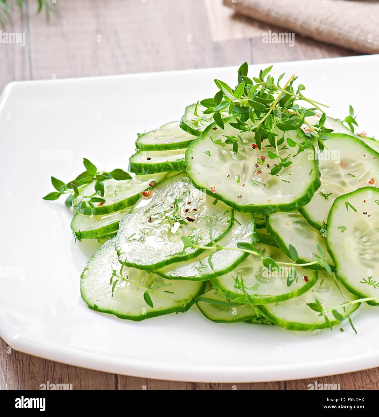 Cucumber salad - Stock Image