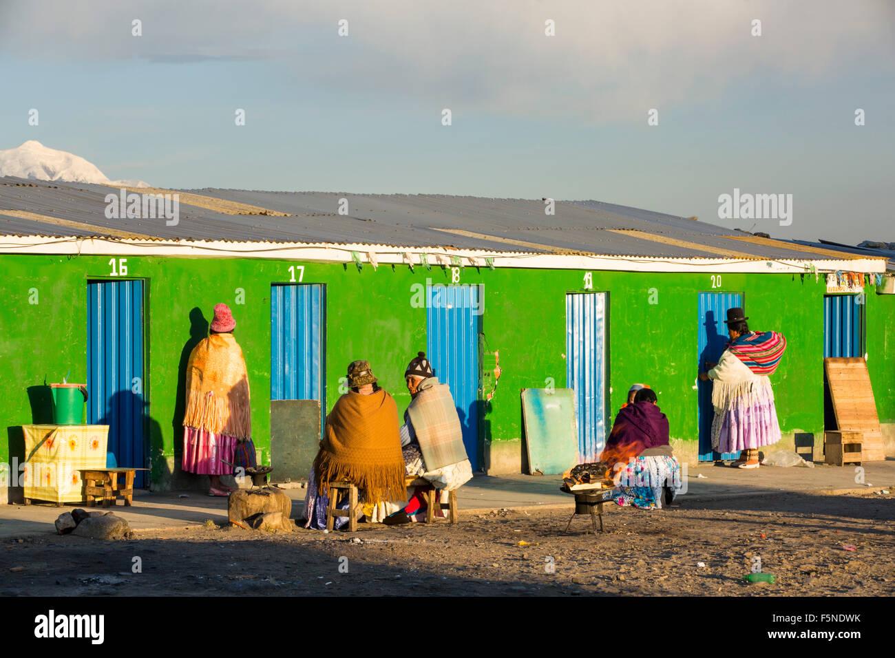 The peak of Illimani from El Alto above, La Paz, Bolivia. La Paz and El Alto are critically short of water and will - Stock Image