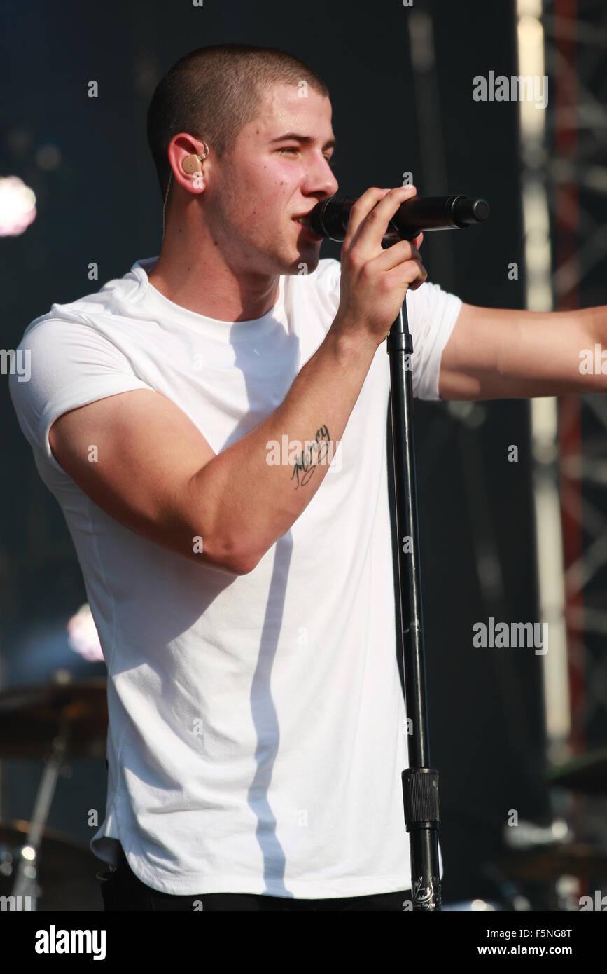 Made in America Festival Concert - Day 1 - Performances  Featuring: Nick Jonas Where: Philadelphia, Pennsylvania, - Stock Image